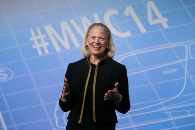 Sur les 4 secteurs clés dans lequel il va investir, IBM espère atteindre dans 4 ans 40 Md$ de chiffre d'affaires cumulé. Ci-dessus, sa CEO Virginia Rometty. (crédit : D.R.)