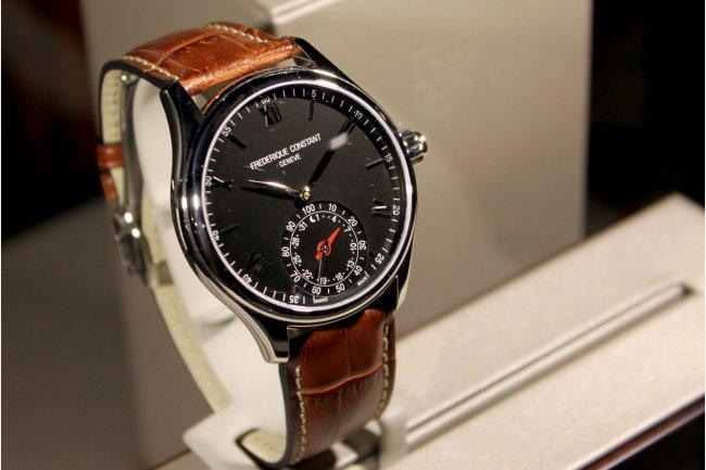 La marque Frederique Constant vient de présenter un modèle de montre connectée via la plateforme MMT exploitant la technologie MotionX. (crédit : D.R.)