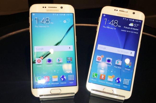 Même taille d'écran (5,1 pouces) mais classique pour le Galaxy S6 et incurvée pour le Galaxy Edge S6.