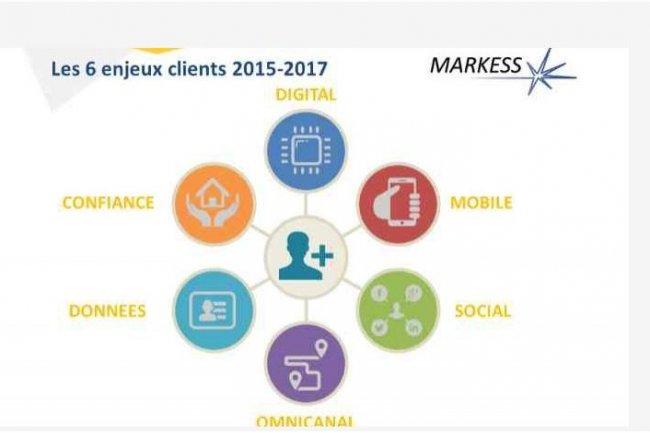 Le cabinet d'analyse Markess voit 6 enjeux clients à relever d'ici 2017. (crédit : D.R.)
