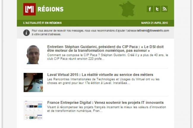 Avec Régions, LMI lance sa 8e newsletter thématique. (crédit : D.R.)