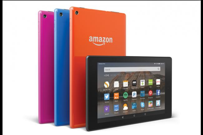 La tablette fire HD 8 pouces d'Amazon sera disponible en plusieurs coloris. (crédit : D.R.)