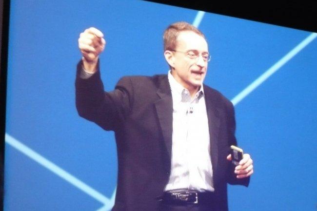 Pat Gelsinger, CEO de VMware, est venu ponctuer VMworld 2015 Europe d'un exposé bien mené mais déjà présenté six semaines plus tôt à San Francisco. (crédit : LMI)