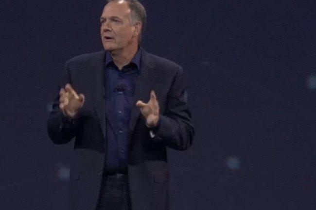 Pour Mike Rhodin, vice-président senior de Watson, la solution d'analyse cognitive d'IBM permet d'aller chercher et analyser les données difficiles à débusquer. (crédit : Oscar Barthe)