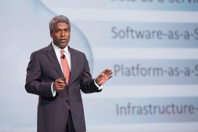 Sur OpenWorld 2015, Thomas Kurian, président d'Oracle, a annoncé de nombreux services d'infrastructure et de plateforme dans le cloud, certains disponibles dès maintenant, d'autres arrivant dans les prochaines semaines. (crédit : D.R.)