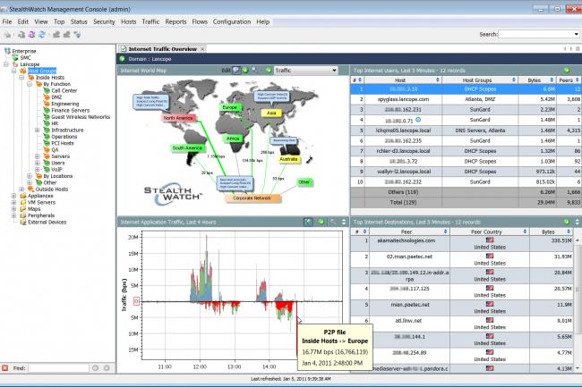 La technologie d'analyse comportementale réseau de Lancope vient renfocrer la division sécurité de Cisco. (Crédit D.R.)