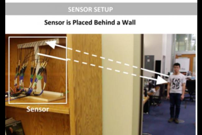 La technologie RF-Capture développée par le MIT permet - via des signaux WiFi - de détecter les déplacements d'une personne. (crédit : D.R.)