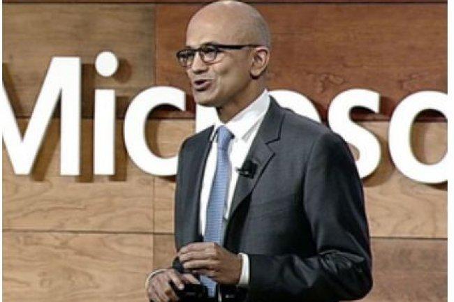 Satya Nadella, CEO de Microsoft, lors de son intervention au Government Cloud Forum à Washington D.C. le 17 novembre 2015. (crédit : D.R.)