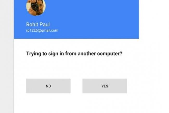 Google essaie une méthode permettant à un utilisateur de se connecter à un autre terminal à l'aide de son téléphone. (crédit : D.R.)