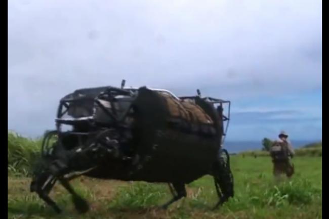 Le mulet robotique de Google ne sera plus utilisé par l'armée américaine. (crédit : D.R.)