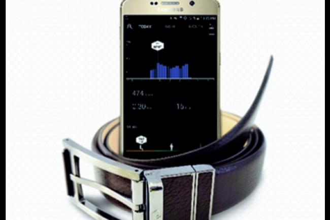 Welt, la ceinture connectée de Samsung permettant de surveiller son embonpoint. Un cadeau idéal en période de fêtes... (crédit : D.R.)