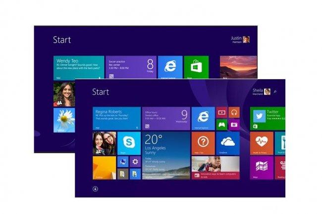 Microsoft arr�te le support de Windows 8, il faudra passer � 8.1 pour b�n�ficier des correctifs de s�curit�. (cr�dit : D.R.)