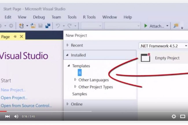 Microsoft travaille sur des R Tools for Visual Studio qui apporteront des fonctionnalit�s �quivalentes aux Python Tools for VS. (cr�dit : D.R.)
