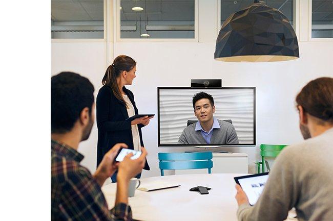 Avec sa plate-forme RealPresence Clariti, Polycom apporte plus de souplesse dans la gestion des sessions collaboratives avec vid�o. (Cr�dit D.R.)