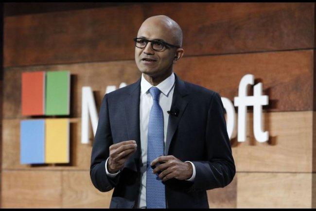 Satya Nadella, CEO de Microsoft, souhaite fournir des ressources cloud aux chercheurs et aux ONG pour que cette technologie ne soit pas r�serv�e aux plus riches. Cr�dit: D.R