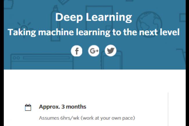 Les d�veloppeurs qui souahitent suivre le MooC deep learning cr�� par Google doivent avoir 2 ans d'exp�rience � leur actif. Cr�dit: D.R.