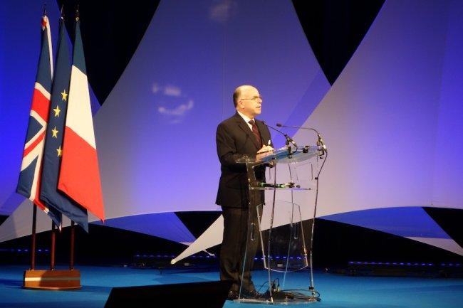 Bernard Cazeneuve, ministre de l'Intérieur, a accueilli cette année le ministre britannique de la Sécurité au FIC 2016 à Lille.