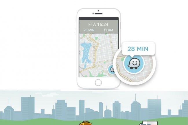 Le SDK de Waze va servir � ins�rer dans les apps mobiles l'estimation du temps d'arriv�e. (cr�dit : D.R.)