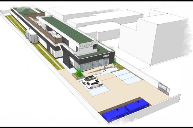 Le projet de 3e datacenter de Synaaps, qui doit voir le jour d'ici 2018. (crédit : D.R.)