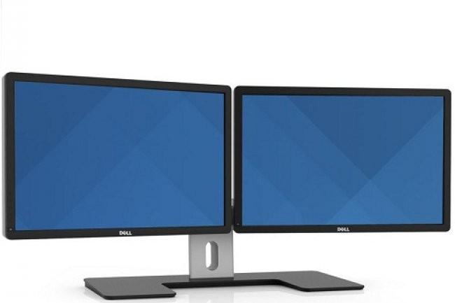 Le travail sur double écran est une pratique qui se généralise, avec le soutient des marques, comme Dell, qui adaptent leurs offres pour satisfaire ces nouveaux besoins. (Crédit D.R)