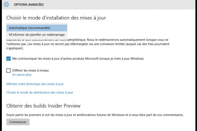 Microsoft propose la Build 14257 de Windows 10 aux utilisateurs ayant choisi le circuit de mise � jour Fast Track. (cr�dit : D.R.)