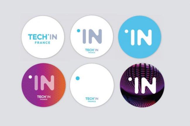 Le changement de nom de l'Afdel en Tech In France s'accompagne d'un nouveau logo qui peut se d�cliner sous plusieurs formes. (cr�dit : D.R.)