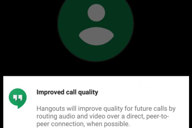En adoptant les connexions P2P pour Hangouts, Google trouve un moyen d'am�liorer la qualit� de son service. (cr�dit : D.R.)