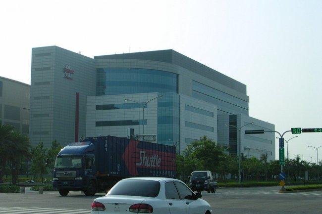 Une usine de semi-conducteurs de TSMC � Tainan touch�e par le s�isme de samedi dernier.