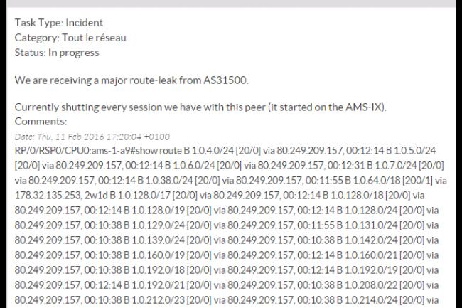 Une importante panne r�seau chez OVH a paralys� le trafic web ce jeudi en fin d'apr�s-midi. (cr�dit : D.R.)
