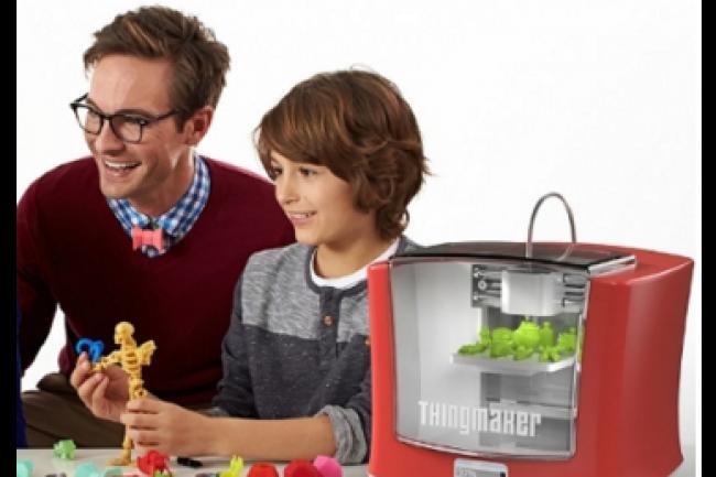 Mattel s'est associ� � Autodesk pour lancer une imprimante 3D domestique propos�e au prix plancher de 300 euros. (cr�dit : D.R.)