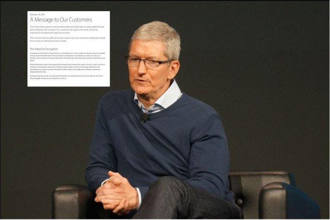 Tim Cook, CEO d'Apple, vient d'écrire une lettre pour s'expliquer sur son refus d'obtempérer à l'ordre reçu d'aider le FBI dans une enquête terroriste. (crédit : Blair Hanley Frank)