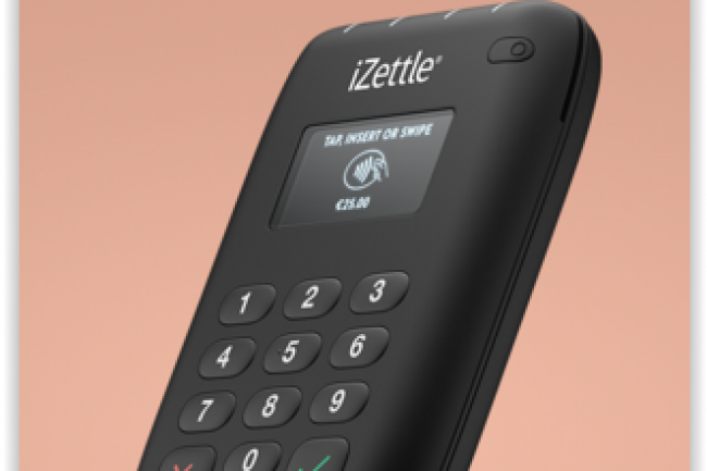 Disponible � 79� HT, le Pro Contactless de Izettle permet d'encaisser des clients en utilisant, notamment, Apple Pay ou Android Pay avec une comission oscillant entre 2.75% et 1.5% pr�lev�e par le fabricant su�dois. (Cr�dit D.R)