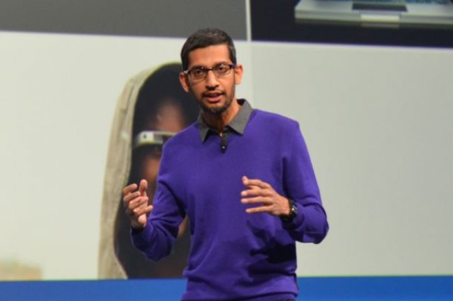 Sundar Pichai, CEO de Google depuis ao�t 2015, a indiqu� hier que sa soci�t� respectait les l�gislations fiscales des pays o� elle �voluait. (cr�dit : Martyn Williams/IDGNS)