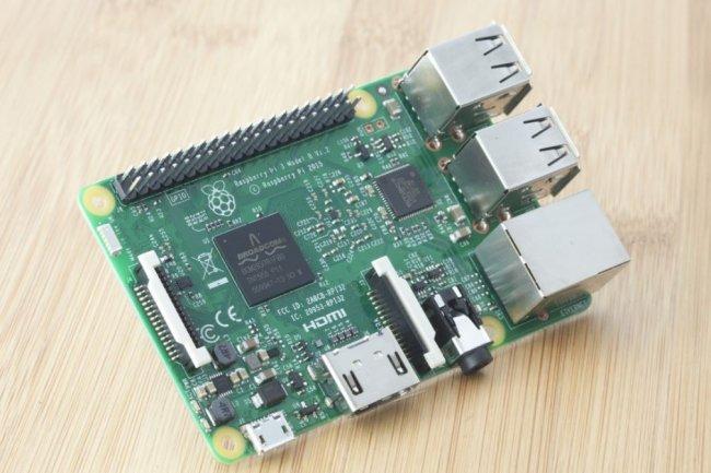 La 3ème génération de Raspberry Pi arbore un processeur 64 bits, 4 ports USB et un port Ethernet en plus de ses capacités WiFi. (crédit : D.R.)