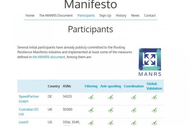 Le programme MANRS a suscit� beaucoup d�int�r�t en 2015 et compte actuellement 40 participants.