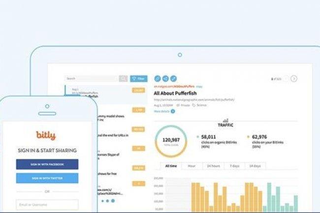 Au-delà de l'abréviation d'URL, Bitly fournit des outils marketing pour créer des raccourcis personnalisés et pour analyser les milliards de clicks effectués chaque mois sur ses liens. (Source: Bitly)