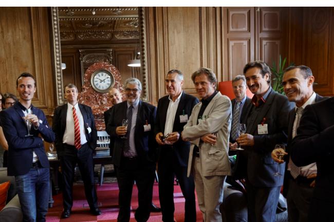 Les pr�sidents des plus grands clubs IT de France et notre responsable des d�veloppeurs Cl�ment Mulot r�unis � Paris en juin dernier pour la 1�re �dition de France Entreprise Digital (cr�dit : Bruno Levy)