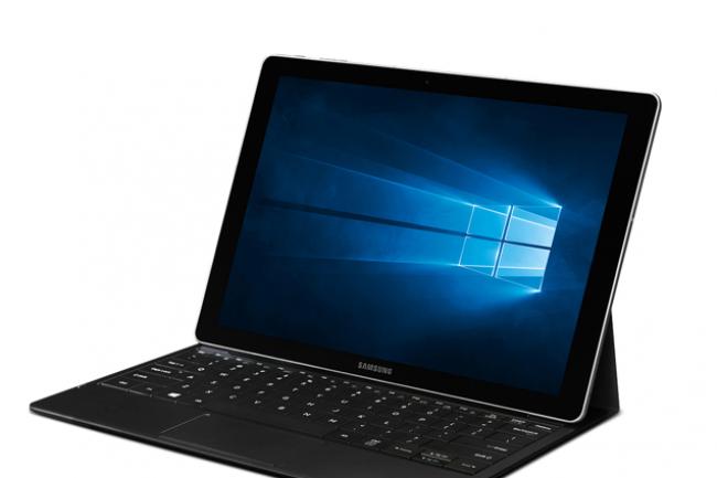 La TabPro S, dernière tablette de Samsung pour s'imposer sur le dynamique segment de marché des tablettes hybrides 2 en 1. (crédit : D.R.)