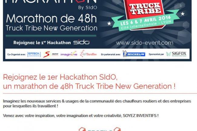 Les participants au 1er hackathon organisé par le SidO auront 48 heures pour développer des services innovants destinés aux chauffeurs routiers. Crédit: D.R.