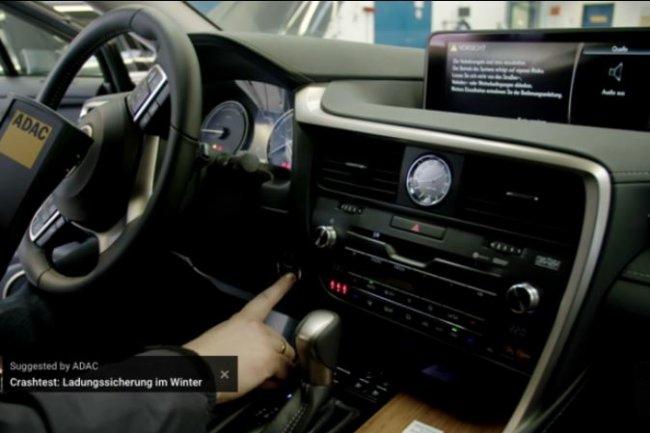 Des chercheurs du club automobile allemand ADAC ont montré comment un amplificateur radio pouvait aider à démarrer un véhicule sans clé. (crédit : ADAC)