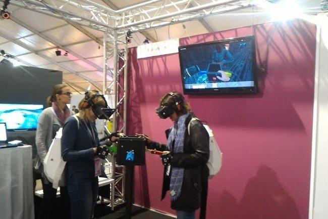 Le 18ème salon Laval Virtual constitue une tête de pont présentant les usages et technologies les plus avancées en matière de réalité virtuelle et augmentée. (crédit : LMI)