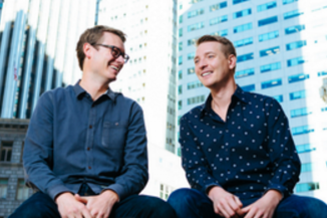 Les confondateurs de Mesosphere, Tobi Knaup (directeur technique) � gauche et Florian Leibert (CEO). cr�dit : D.R.
