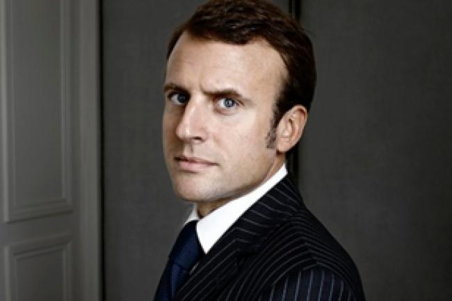 Emmanuel Macron, ministre de l'Economie, a rencontr� les PDG d'Orange et Bouygues Telecom jeudi pour �voquer les modalit�s de leur rapprochement. (cr�dit : D.R.)