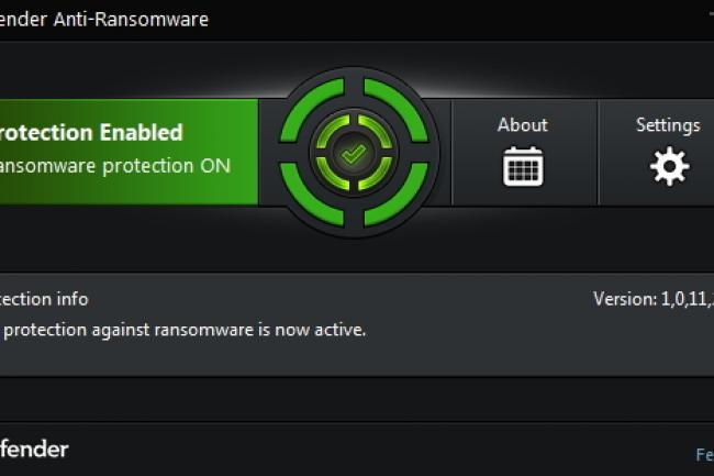 La fonction de protection anti-ransomware propos�e par Bitdefender. (cr�dit : D.R.)