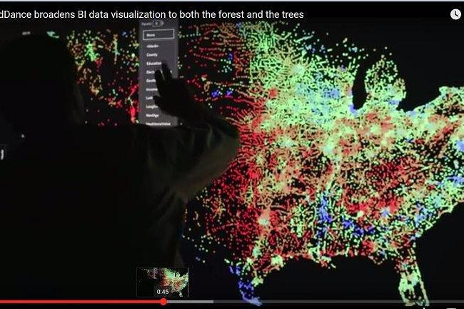 L'outil de visualisation SandDance, d�velopp� par Microsoft Research et accessible depuis Power BI, �tend la visualisation de donn�es aux for�ts et aux arbres, explique l'�diteur. (cr�dit : D.R.)