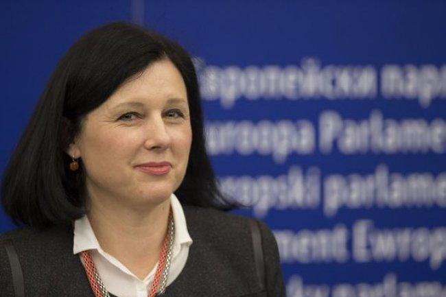 Vĕra Jourová, Commissaire européenne chargée de la Justice, des consommateurs et de l'égalité des genres, lors d'une session du Parlement européen en janvier 2016. (crédit : UE)