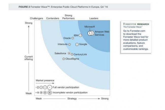 Neuf fournisseurs d'infrastructures IaaS et SaaS ont une forte présence en Europe, montre Forrester dans un rapport sur le cloud public.