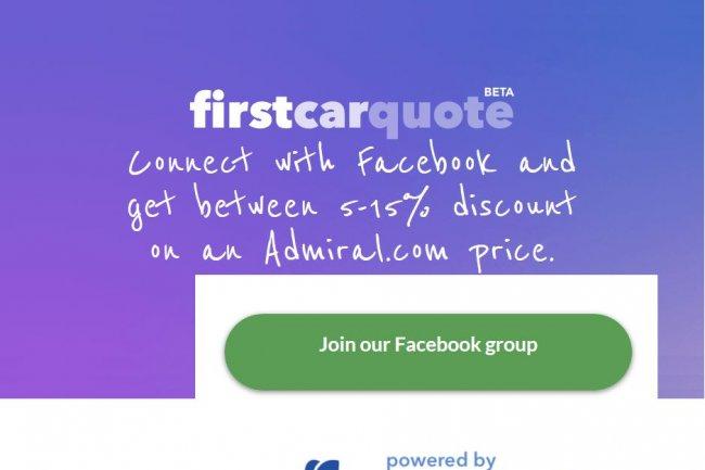 Via son application Firstcarquote, l'assureur britannique Admiral voulait s'appuyer sur les données de Facebook pour offrir de 5 à 15% de réduction sur ses tarifs aux jeunes conducteurs.