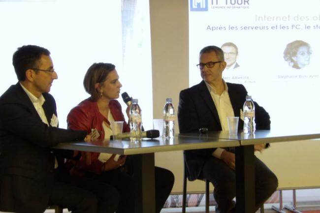 Jean-Marc Alberola (Energy strategy leader Airbus), Stéphanie Buscayret (RSSI Latecoere) et Jean Deslous-Paoli (DSI Groupe 3S) ont été les grands témoins de l'IT Tour 2016 à Toulouse/ (crédit : LMI)