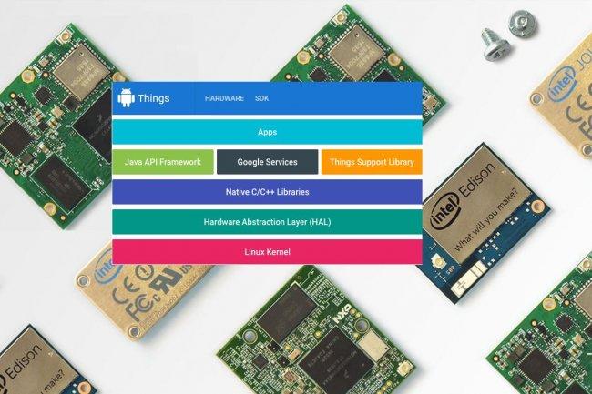 Pour développer des solutions IoT ciblant surtout la domotique, Google propose son SDK Android Things en préversion. (crédit : D.R.)